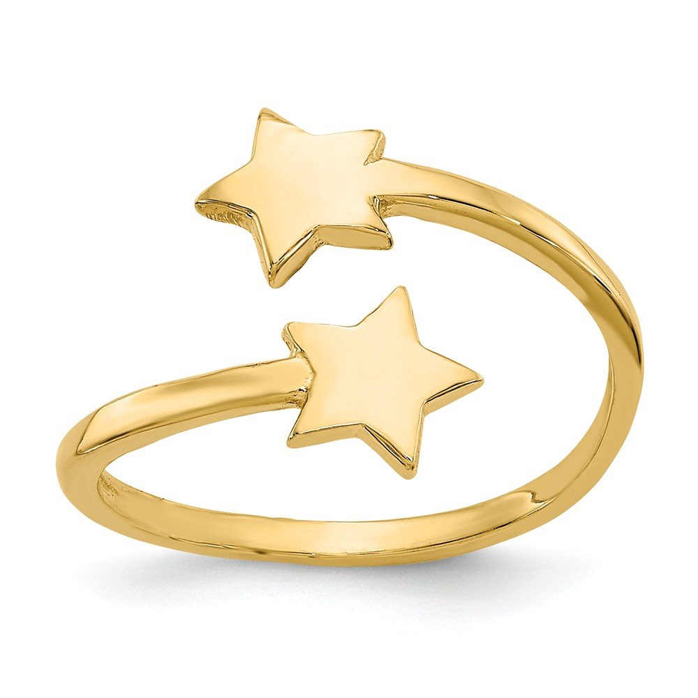 Star Toe Ring in 14 Karat Gold