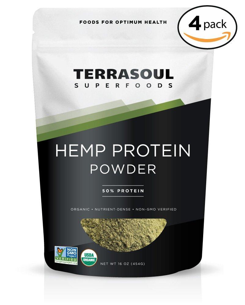 Terrasoul Superfoods Organic Hemp Protein Powder (50% Protein), 4 Pounds