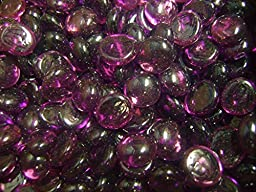 Creative Stuff Glass - 5 Lb - Purple Amethyst Glass Gems - Vase Fillers (15-17mm, Approx. 5/8'')