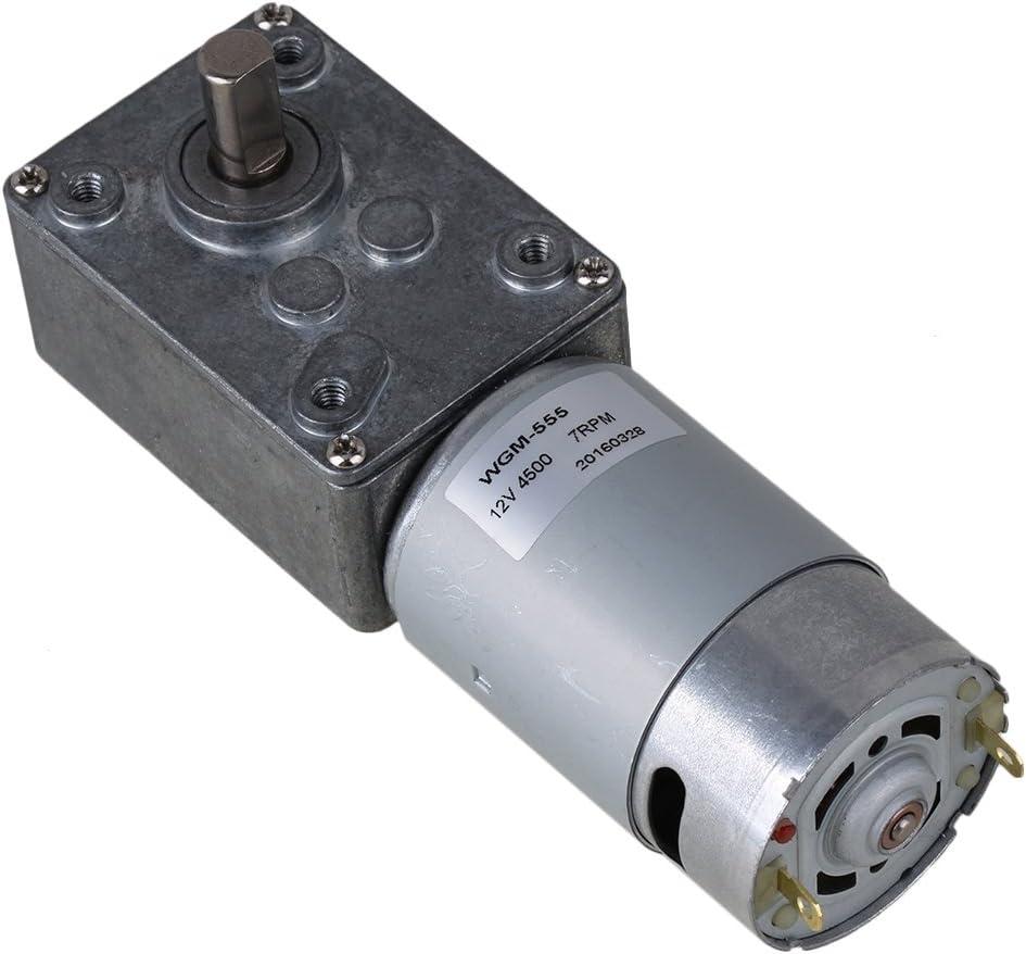 Bqlzr metal 12/V DC coppia elevata Worn Motoriduttore con Gear Box verticalmente BQLZRN21562 argento