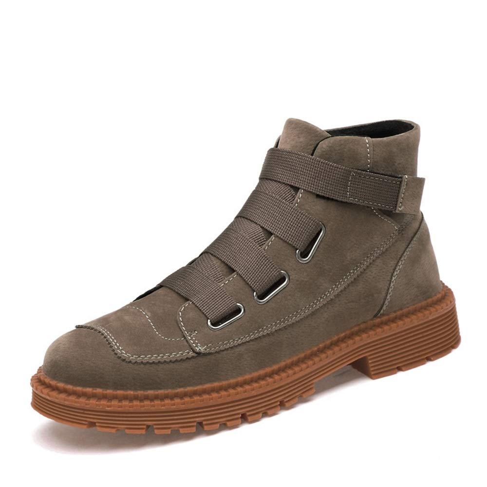 Qiusa Mens Hook Loop Loop Loop Chukka Stiefel Weiche Sohle Rutschfeste Casual Atmungsaktive Stiefel (Farbe   Braun, Größe   EU 43) d746f9