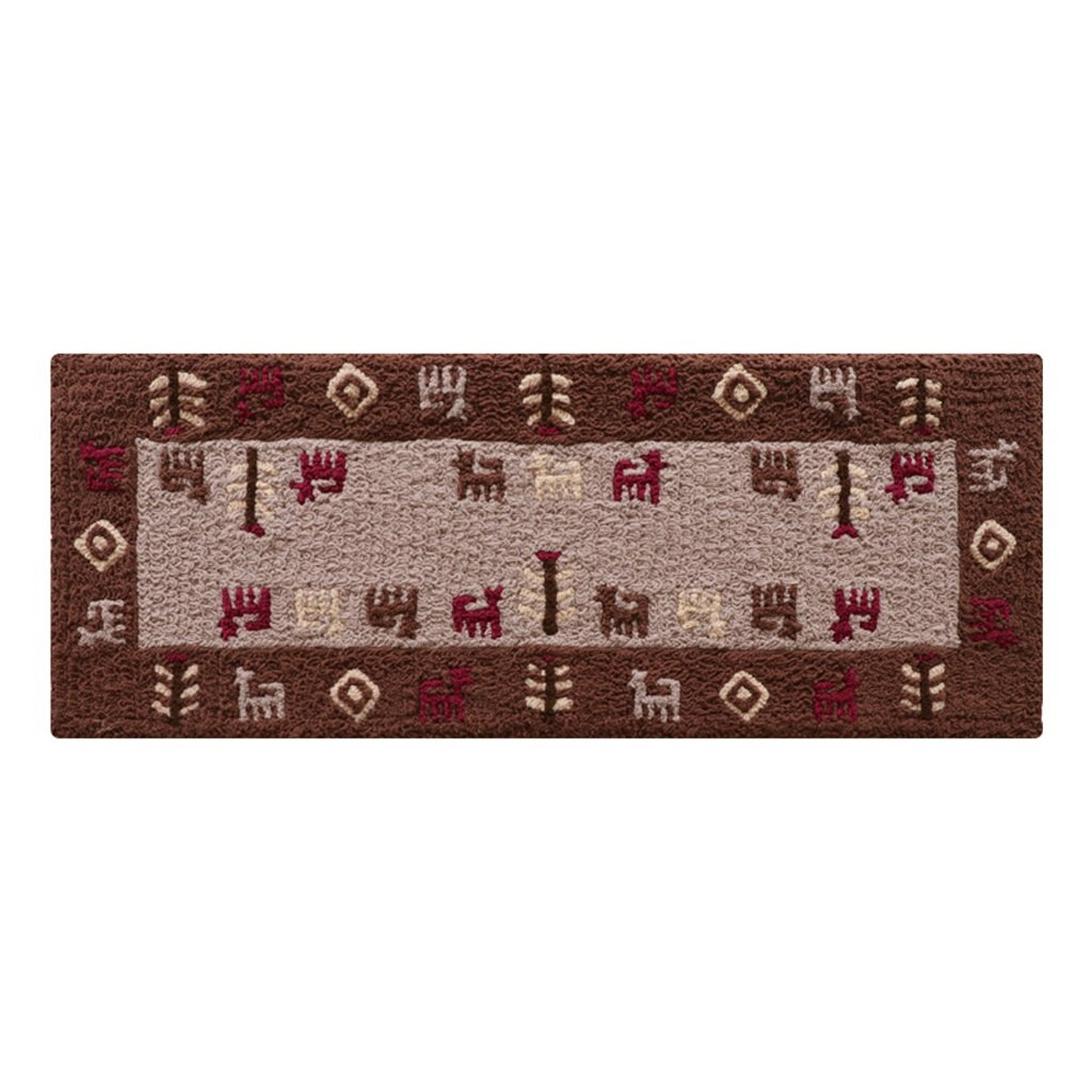 Boyang Carpet Nordic Household Absorbent Strip Of Carpets Kitchen Bedside Window Machine Embroidered Mat Non-slip Long Mat, Size: 45 120cm