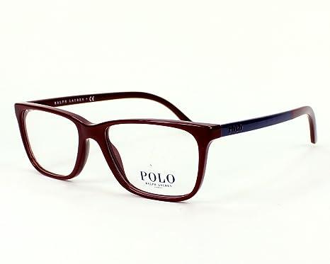 c7383c403ba Polo Ralph Lauren - Montures de lunettes - Homme marron bordeaux - blau  Medium