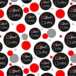 I Choose Love Not Hate Checkboxes Premium Gift Wrap Wrapping Paper Roll