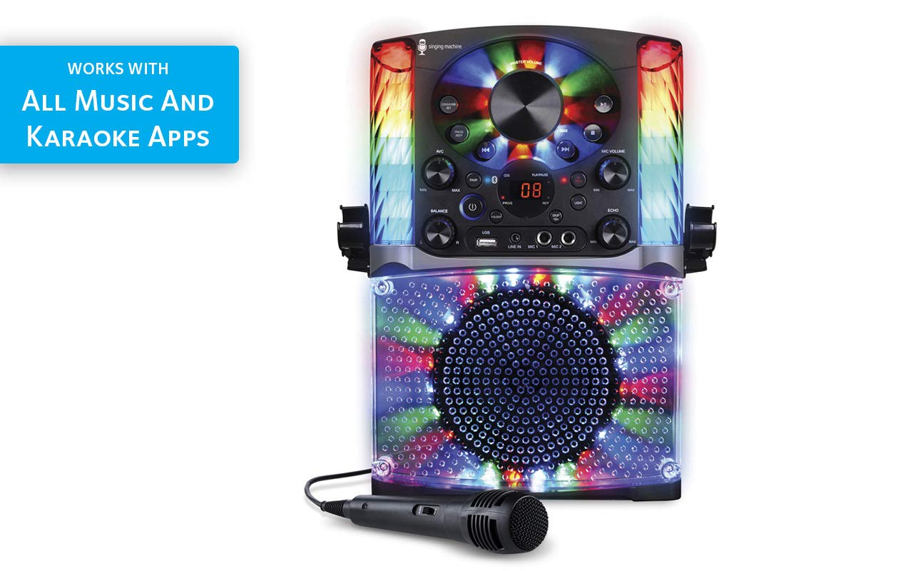 Singing Machine SML625BTBK Bluetooth CD+G Karaoke System Black by Singing Machine (Image #13)
