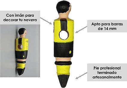 Soccer Table SL Individual Jugador de Futbolín Dormunt con imán, presentado en una Exclusiva Caja expositora, Color Amarillo y Negro (art-096): Amazon.es: Juguetes y juegos