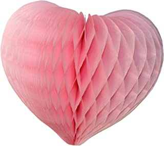 product image for 6-pack 12 Inch Pink Honeycomb Heart Decorations
