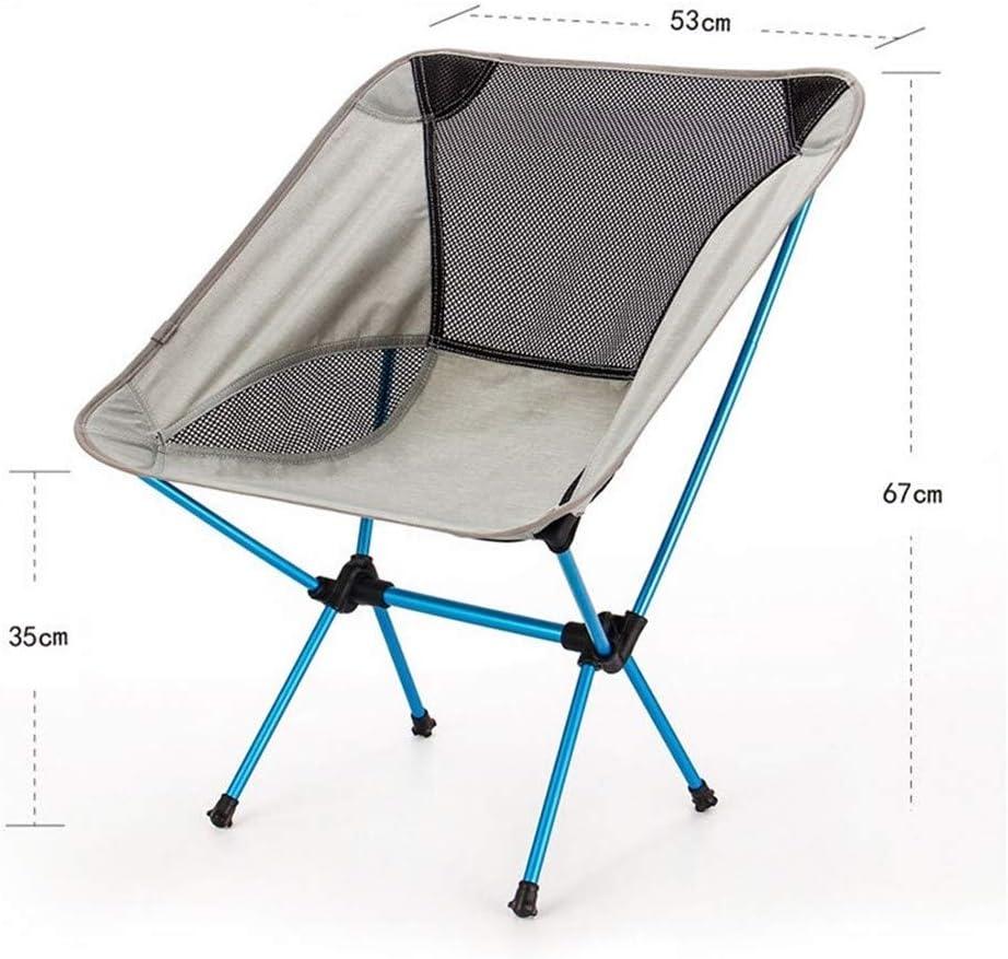 Asiento Portátil, Silla De La Pesca Claro, Gris Camping Heces, Plegable Muebles De Exterior, Nuevo Jardín, Sillas Portátiles Ultraligeros (Color : Folding Chair) Folding Chair