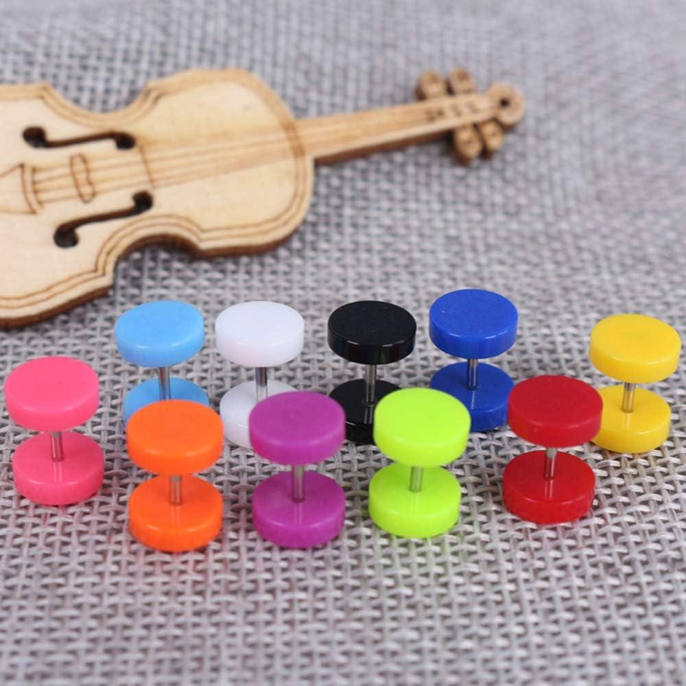 Ogquaton 6 paires de fausses boucles doreille en acrylique tricheur faux oreille piercing rentable