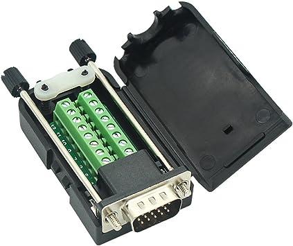 D-SUB DB15 VGA Male Female 3Row 15Pin Plug To Terminal Breakout Board Connectors