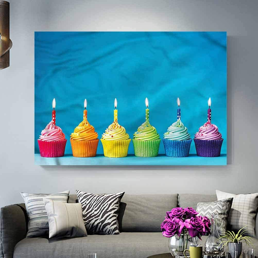 Wall Decor Birthday,Cupcakes Party Food Teacher Appreciation Gifts Under 10.00 L24 x H48 Inch