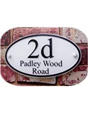 250×140mm Oval Customized Transparent Acrylic House Signs Door Plates Plaques Door Number/Street Name Signs with Vinyl Paper Films