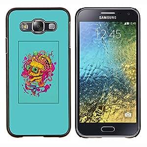Planetar® ( Cerebro Pensamiento colorido Arte de la pintura del retrato ) Samsung Galaxy E5 E500 Fundas Cover Cubre Hard Case Cover