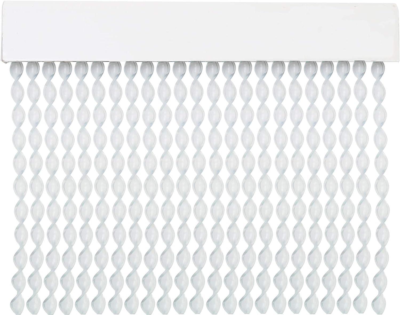 MercuryTextil Cortina para Puerta Tiras PVC 200x90cm,Cortina para Puerta Exterior,10 Color (Transparente)