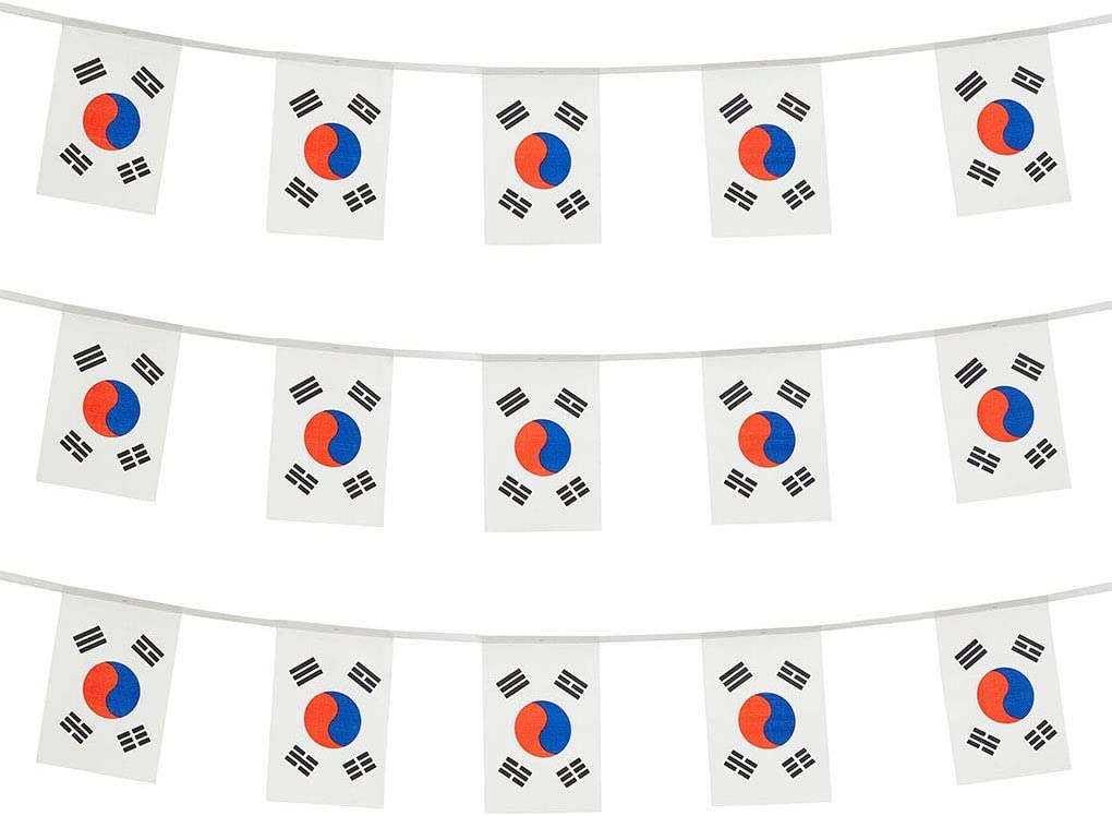 South Korea Flags Korean Small String Mini Flag Pennant Banner Decorations