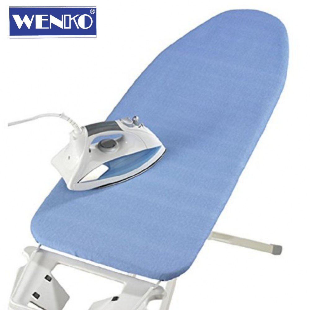 Wenko Teflon Pearl 4 mm Blue Ironing Board Cover, Suitable for Steam Irons, approx 128 x 54 cm.