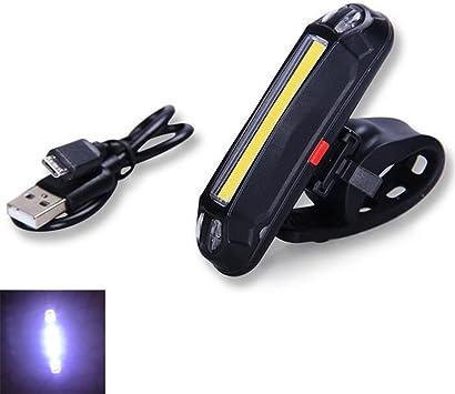 Luz trasera de bicicleta recargable por USB, potente luz LED ...