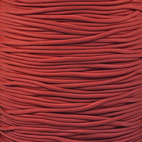 (Solid Color Paracord Choices of 550 LB Tensile Strength with Twisted Inner 7 Strand Removable Core Parachute Cord in 10, 25, 50, 100 Foot Lengths)