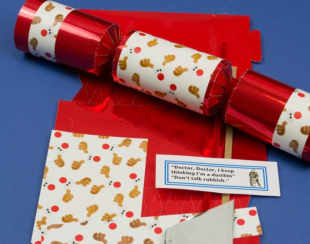 Amazon Com Single Make Your Own Krafty Rudolph Reindeer Christmas Cracker Craft Kit Home Kitchen