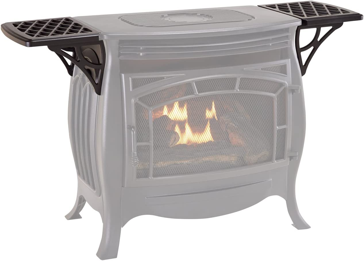 Duluth Forge Set for Vent Free Gas FDSR25 Stove Shelf, Small, Black