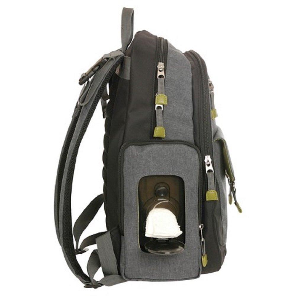 e0a93e858bf5 Amazon.com   Eddie Bauer Eddie Bauer Places   Spaces Dk Grey Heather Back  Pack Diaper Bag