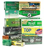 MYO/RYO Cigarette Tube Sampler - MENTHOL King Size - 10 Boxes with Free Top Brand Cigarette Tube Injector and Two King Size Flip-Top Plastic Storage Cases