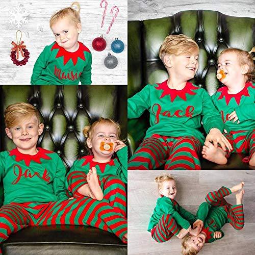 personalised christmas pyjamaspersonalized christmas pajamas elf clothes matching pjs elf - Elf Christmas Pajamas