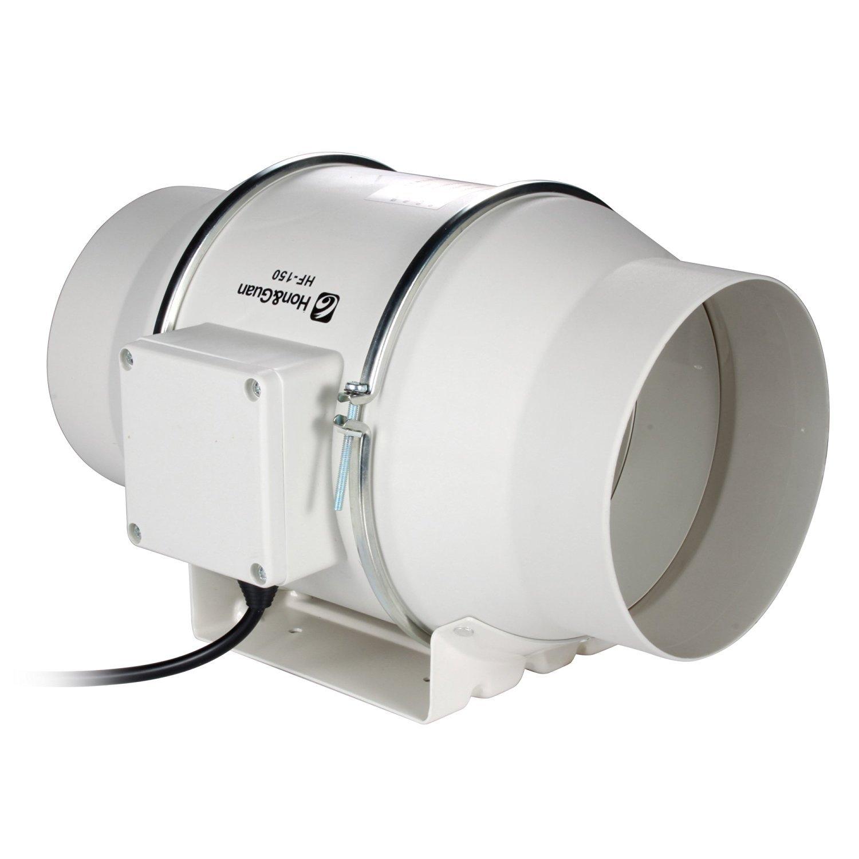 Hon&Guan 6 Inch Inline Duct Fan Exhaust Fan Mixed Flow Inline Fan #0: 61lWbs5fDLL SL1500