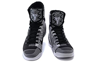 new style e1c89 c48a1 Mens Kobe 9 Elite High Top Basketball Shoes Black Blue Men 11D(M) UK
