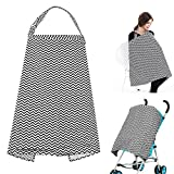 Accmor Nursing Cover Breastfeeding Cover, Multi-use Breathable Cotton Flax Breastfeeding Cover Ups Nursing Apron, Full Coverage, Rigid Neckline, Covers Up Newborns in Public