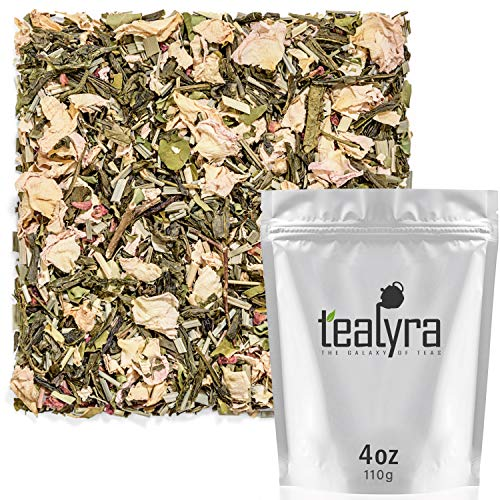 Tealyra - Moringa Raspberry Rose - Lemongrass - Flavored Green Loose Leaf Tea - Very Healthy Tea Blends - Rich Taste Fruit and Floral Tea - Low Caffeine - 112g (4-ounce)