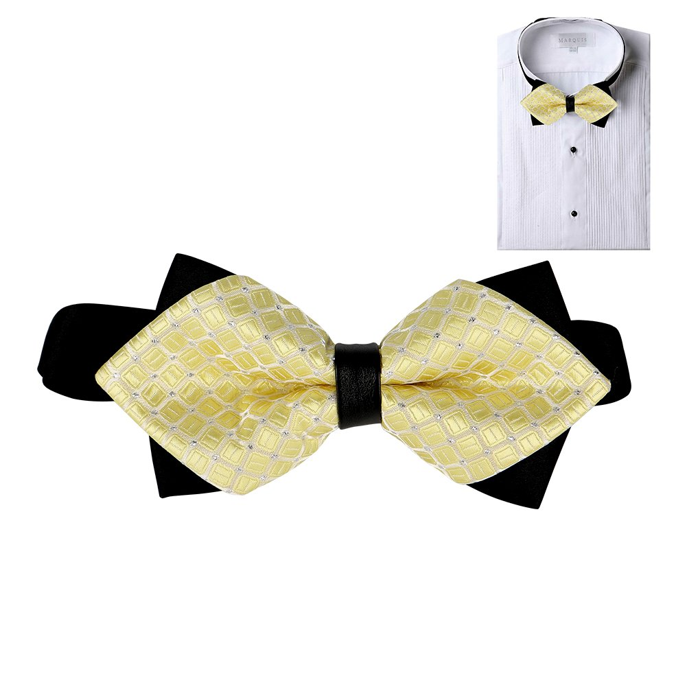 Elegant Pre-tied Bow Ties Formal Tuxedo Bowtie Set with Adjustable Neck Band Gift Idea For Men And Boys Zomee Tied Bow Ties
