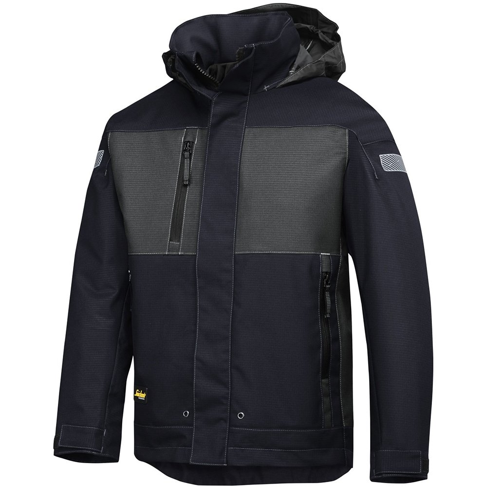 Snickers 11789518006 Size Large Waterproof Winter Jacket - Navy Blue/Grey