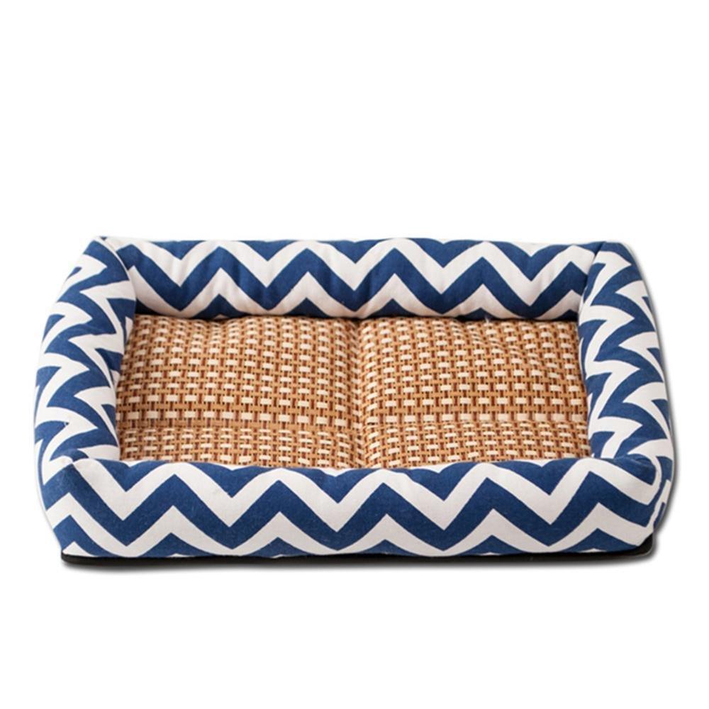 A 58x45cm A 58x45cm Dixinla Pet Bed Wave Surround Pet Bed Mat Dog Mattress