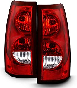 ACANII - For 2003-2006 Chevy Silverado 1500 2500 3500 Factory Style Tail Lights Rear Brake Lamps w/Harness & Bulb Pair