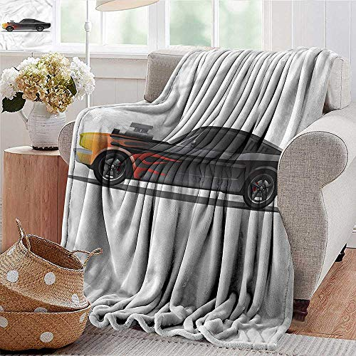 Xaviera Doherty Throw Blanket Cars,Retro Supercharger Vehicle Cozy Blanket for Couch Sofa Bed Beach Travel 35