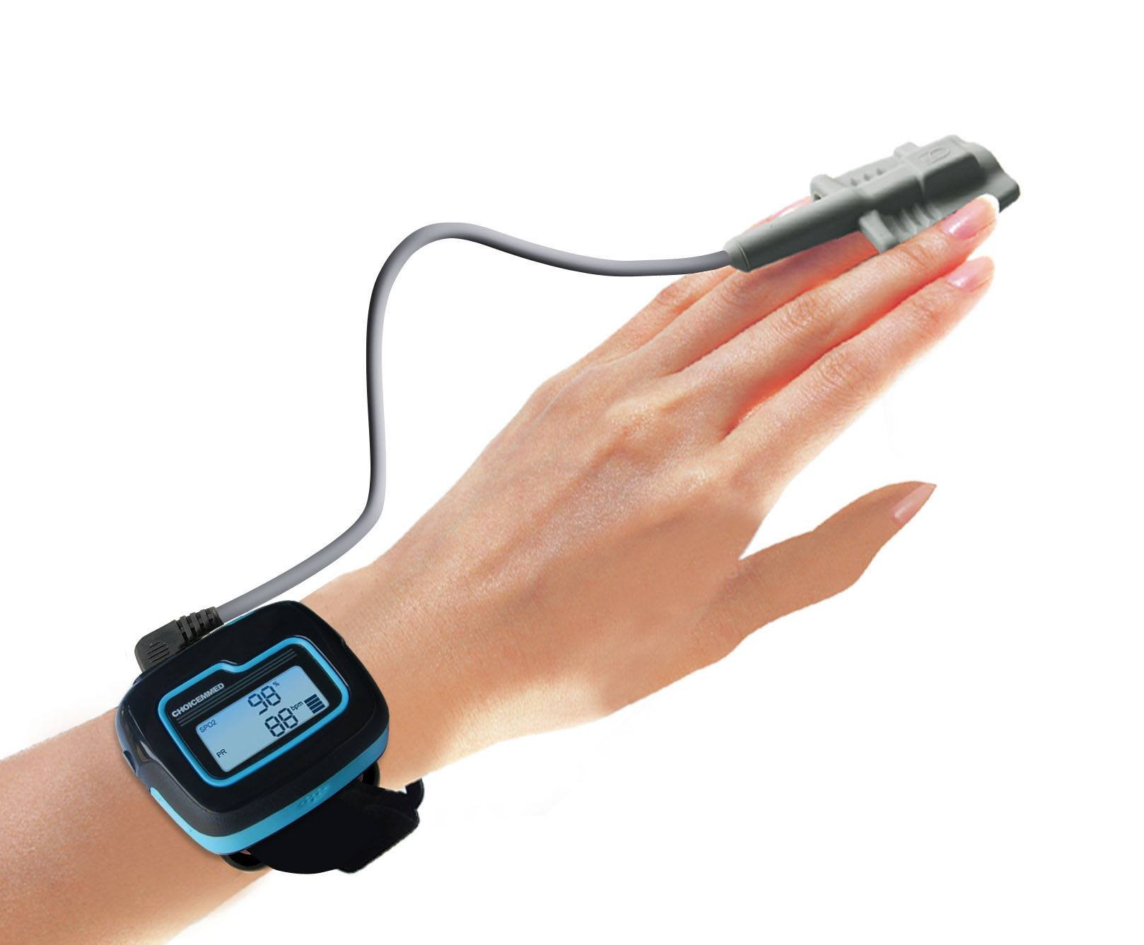 FDA Cleared Wrist Pulse Oximeter Overnight Home Sleep Detector Watch Sleep SPO2 Oxygen Saturation Heart Rate Monitor Tracker and Recorder with Software for Windows