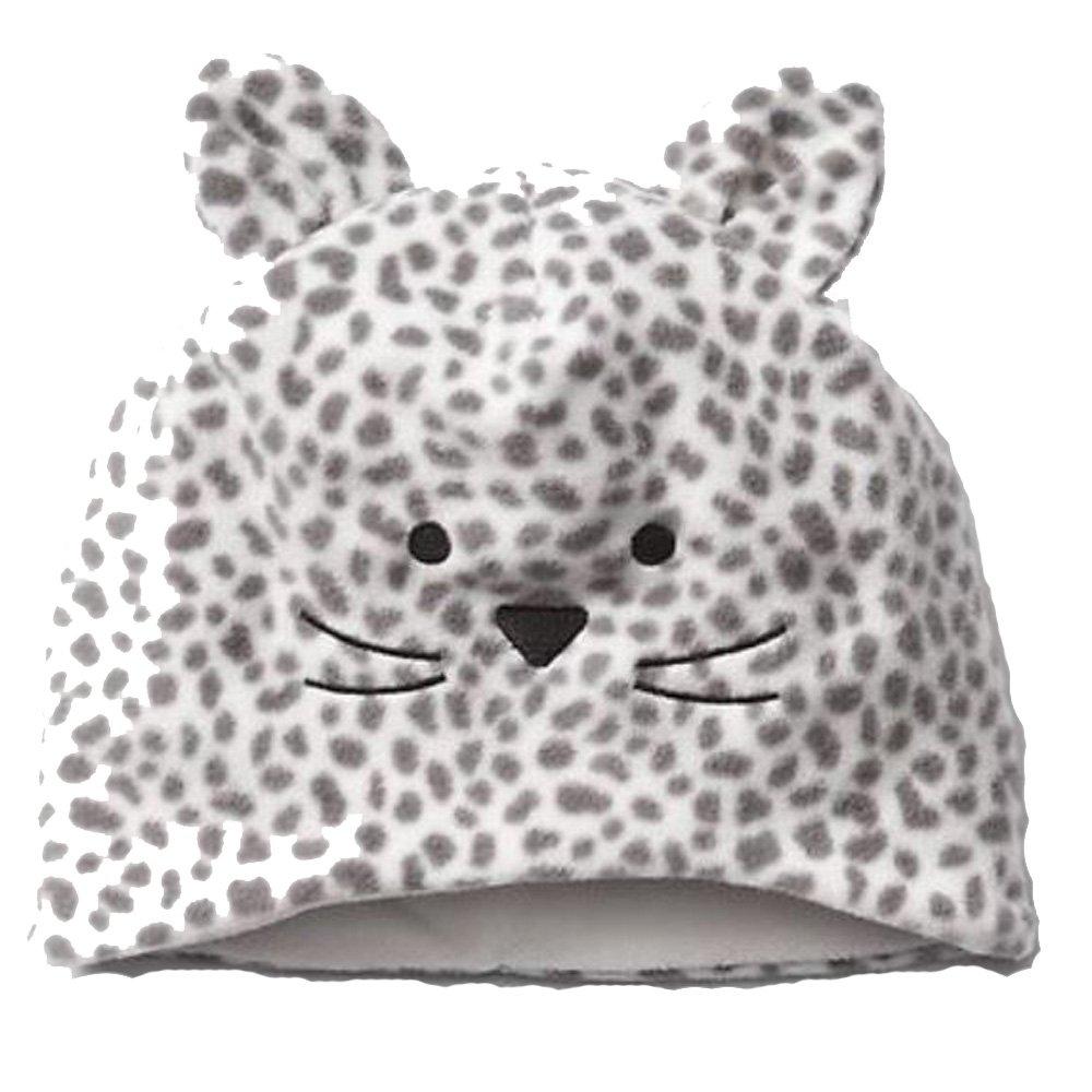 Baby Gap Girls Gray White Kitty Cat Fleece Hat M//L