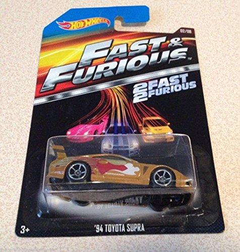 Hot Wheels Fast & Furious 1994 Toyota Supra Diecast 1:64 Model Car (Gold)