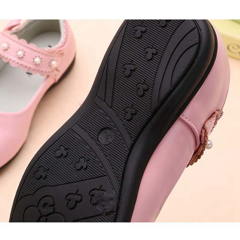 F-OXMY Kids Bowknot Dress Ballet Flats Comfort Mary Janes Princess Shoes Girls Toddler//Little Kid