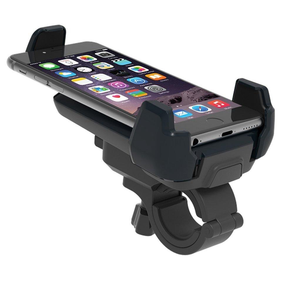 SODIAL ( R )バイクマウント、ユニバーサル携帯電話ホルダー自転車ハンドルバー&オートバイマウント360度回転Iphone Samsung GPSデバイスとMore 4 ~ 6インチタブレットや携帯電話に適し B0746J88GB