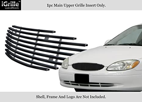 Amazon aps fits 2000 2003 ford taurus black stainless steel aps fits 2000 2003 ford taurus black stainless steel billet grille grill insert n19 thecheapjerseys Images