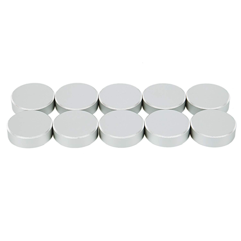 SODIAL 2pcs Metal C Mount Rear Lens Cover Cap CCTV (Black) 172594A3