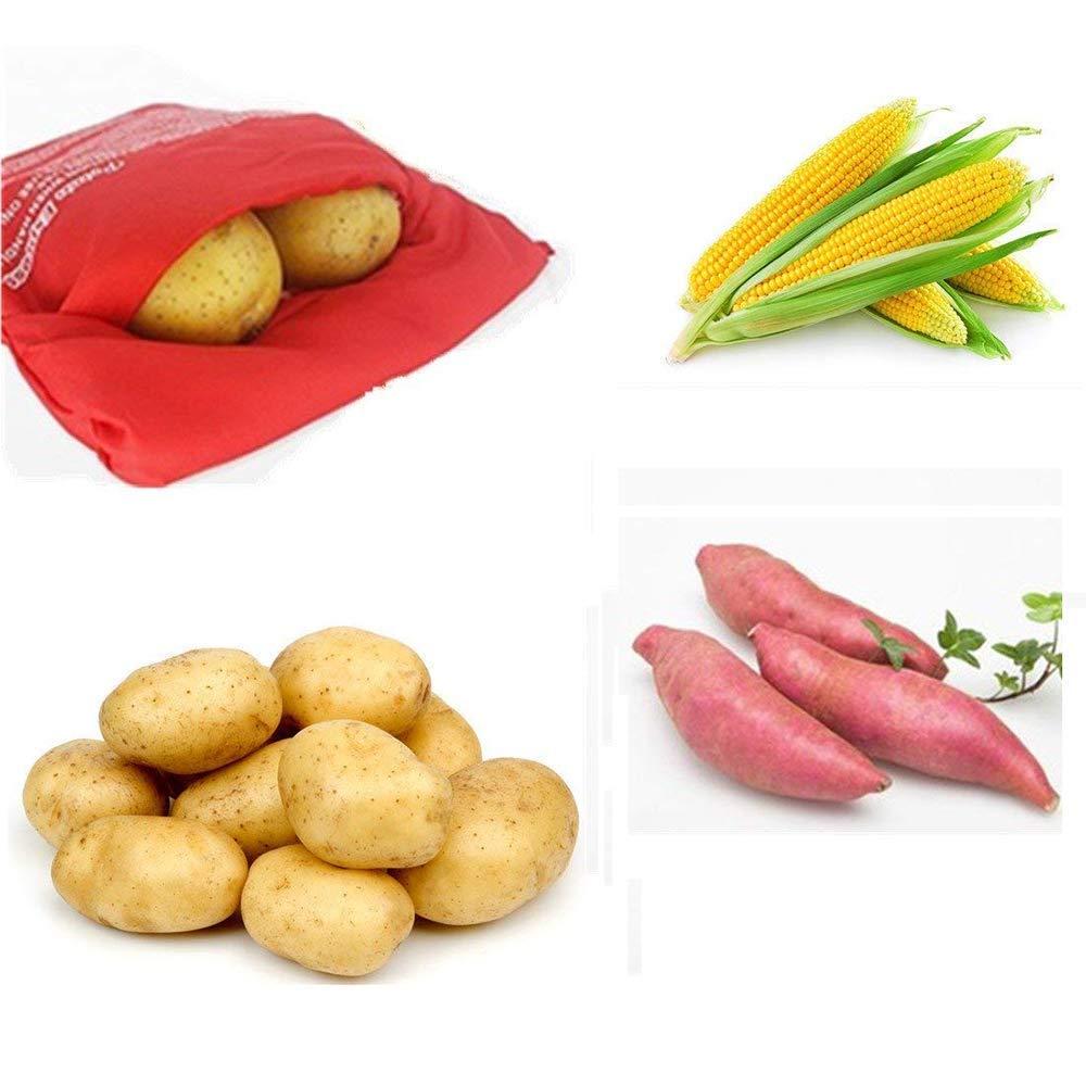 Kingzhuo - Bolsa para cocinar patatas en microondas, 2 ...