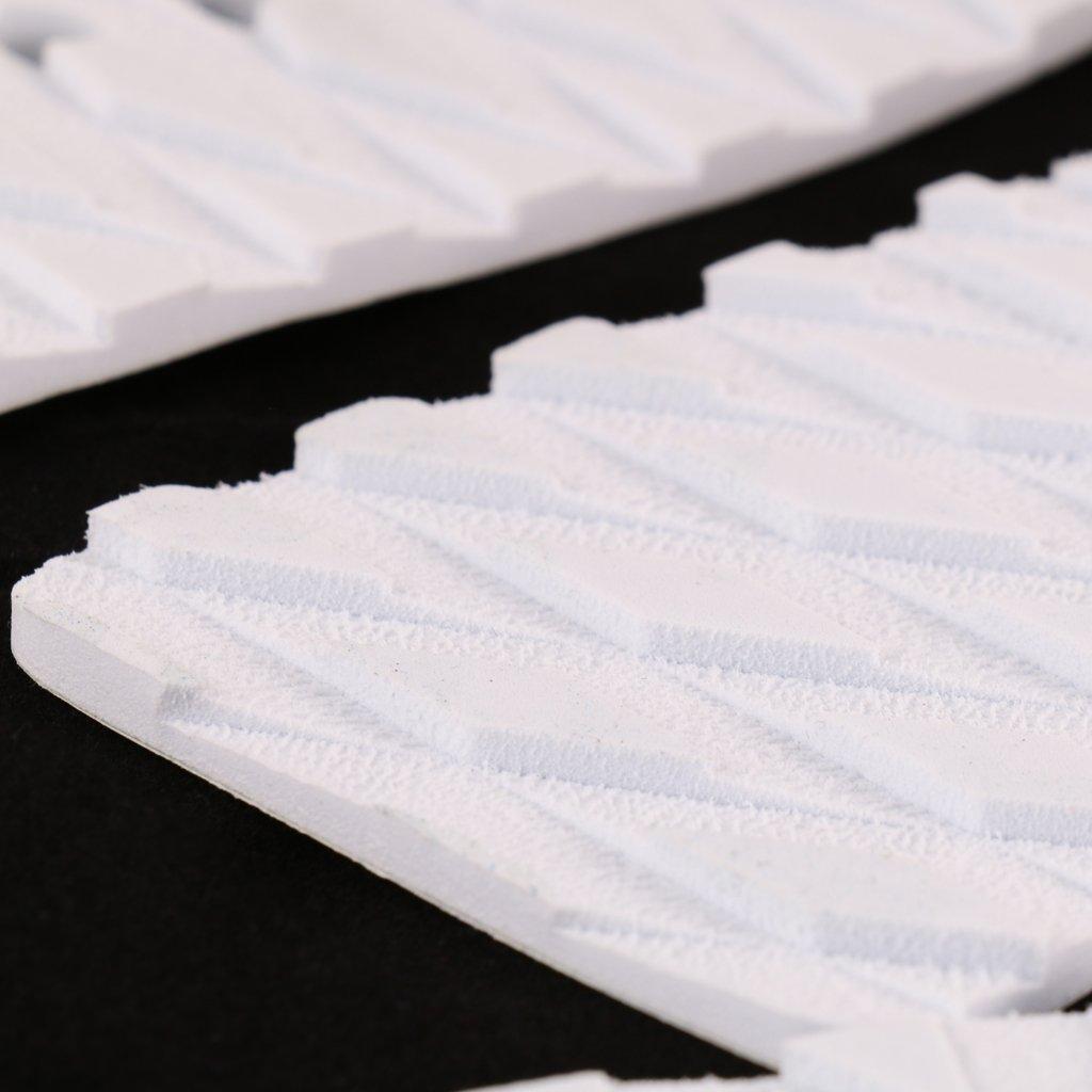 Blanco 3pcs Conjunto De Tablas De Surf Almohadillas Traseras De Tracci/ón De Surf Surf Cubierta Apretones