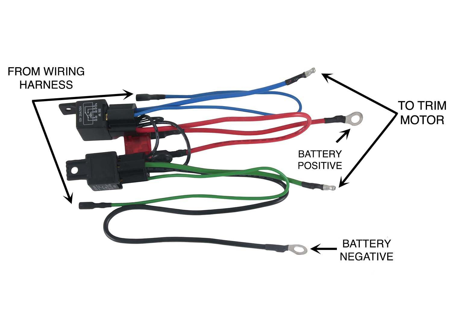 Amazon.com: NEW WIRING HARNESS FITS MERCURY MARINE TILT TRIM MOTORS on connectors 3 prong, fuse 3 prong, plug 3 prong,