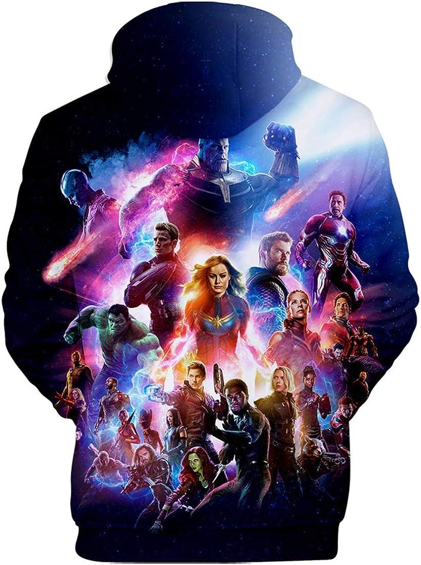 PANOZON Sudadera Hombre Impresi/ón 3D de Vengadores Endgame para Fanes de Pel/ícula Avengers Superh/éroes