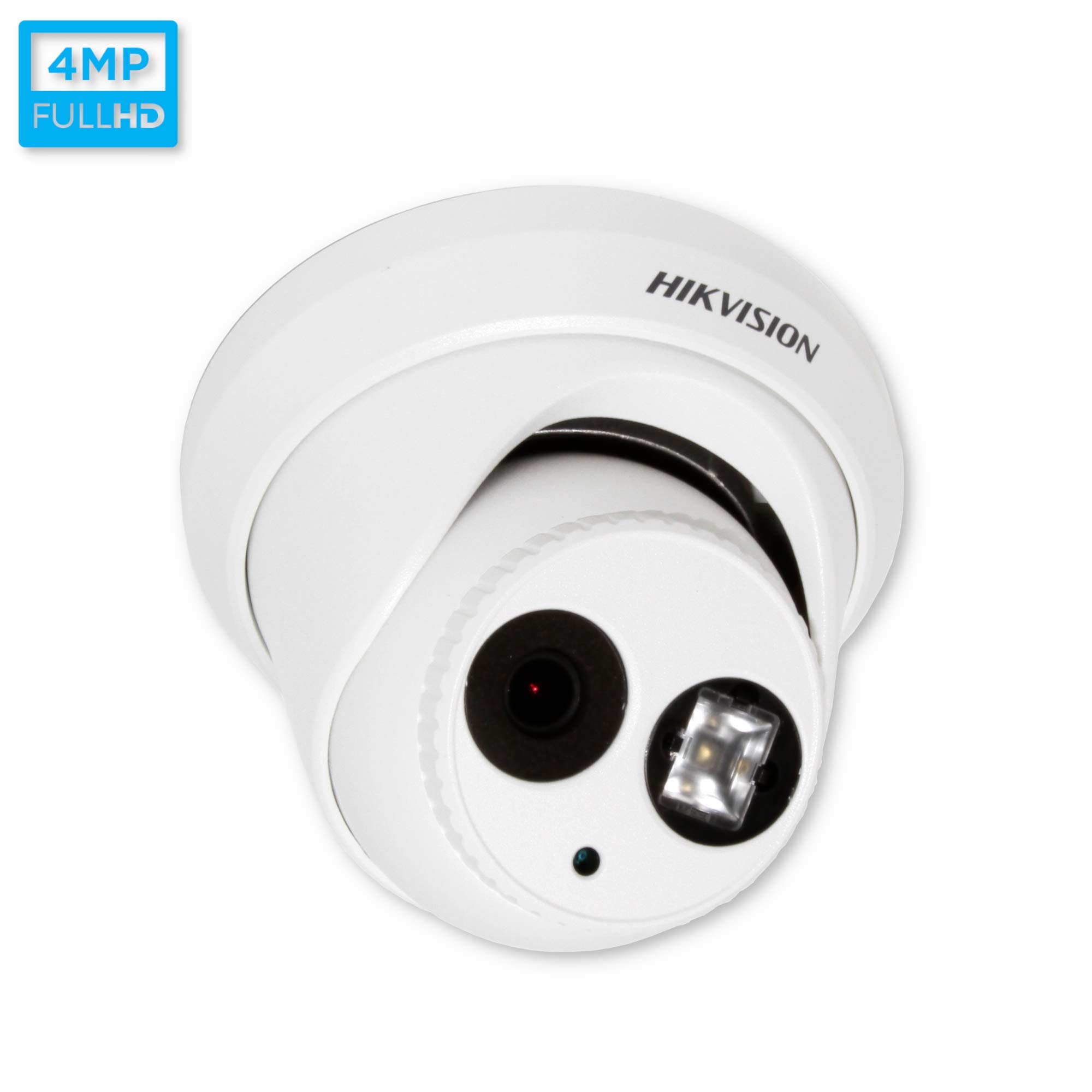 HIKVISION 4 Megapixel EXIR PoE Turret IP Outdoor Surveillance Camera, DS-2CD2342WD-I 2.8mm Lens,White