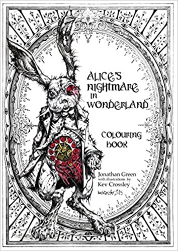Alice\'s Nightmare in Wonderland Colouring Book Snowbooks Fantasy ...