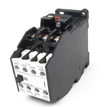 DealMux 380V 22A 50Hz Coil Motor Controler AC Schütz 3P 3 Pole 2 ...